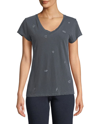Icons V-Neck Graphic Tee