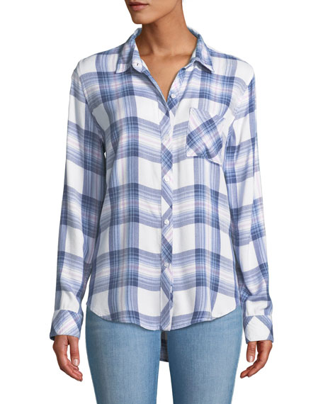 Rails Hunter Button-Front Plaid Shirt
