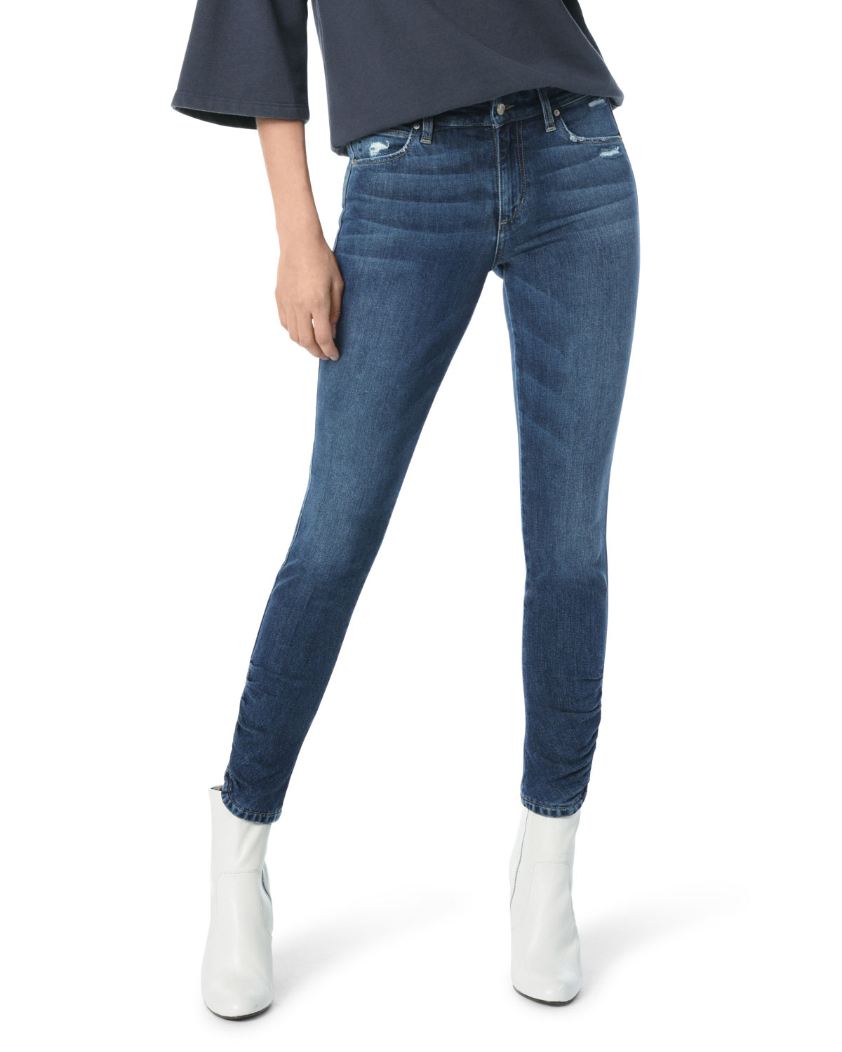 0f3ab6d2dca Joe s Jeans The Icon Skinny-Leg Ankle Jeans w  Ruched Hem