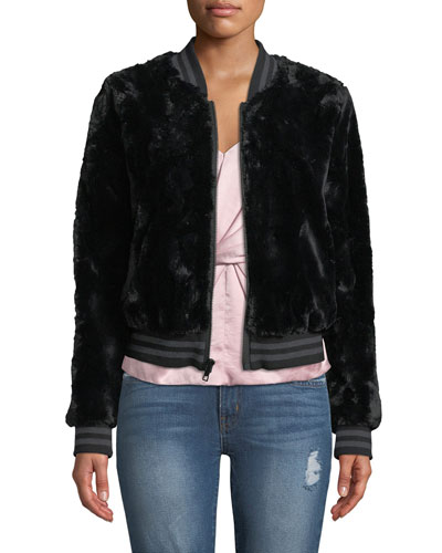 Back Country Sporty Faux-Fur Bomber Jacket