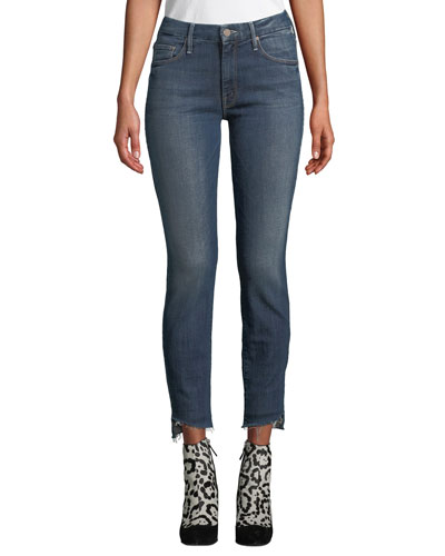 The Looker Step-Hem Skinny Ankle Jeans