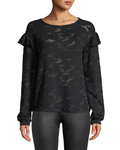 Oliver Burnout Camo Tee with Ruffles
