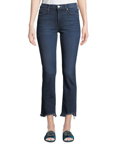 Rascal Chewed-Hem Ankle Jeans