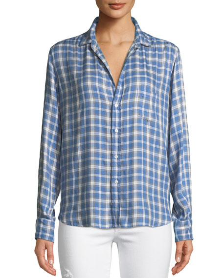 Frank & Eileen Eileen Long-Sleeve Button-Front Windowpane