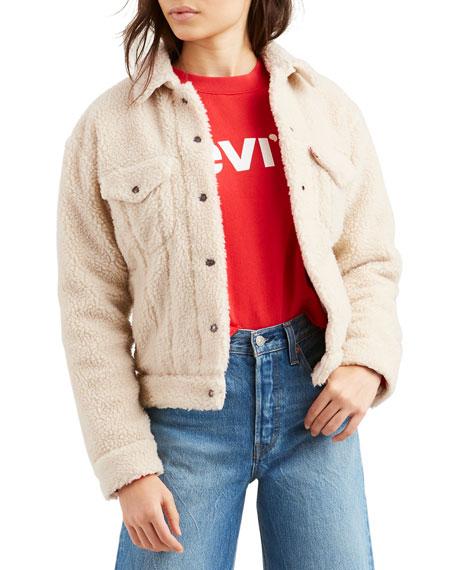 Levi's Premium Sherpa Snap-Front Trucker Jacket