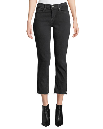 Curvy Mid-Rise Straight-Leg Cropped Jeans