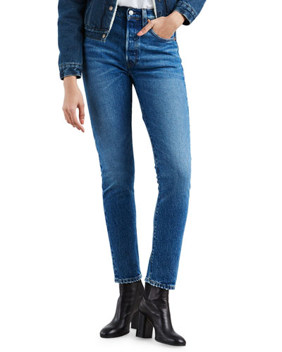 501 High-Rise Ankle Skinny Jeans