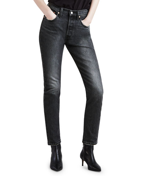 Levi's Cottons 501 HIGH-RISE ANKLE SKINNY JEANS
