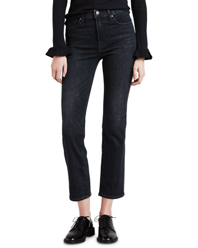 724 High-Rise Cropped Straight-Leg Jeans
