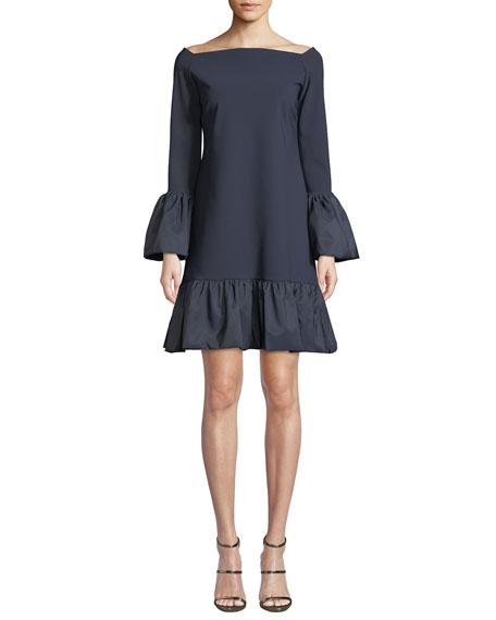 Chiara Boni La Petite Robe Maldina Bell-Sleeve Ruffle