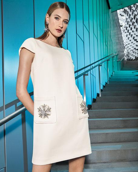Sack Dress w/ Embellished Pockets