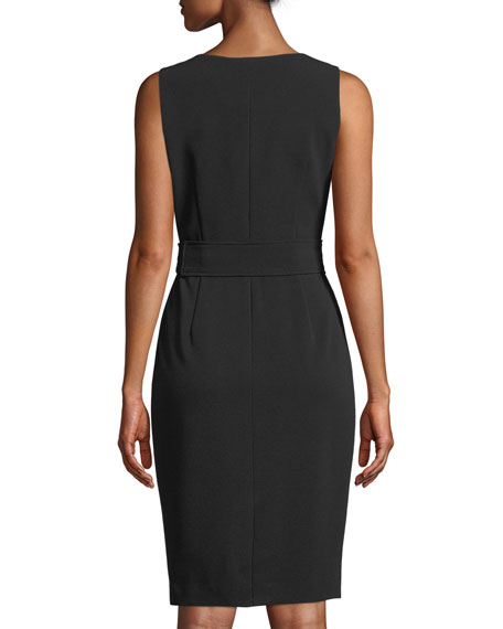 V-Neck Sleeveless Wrap Dress