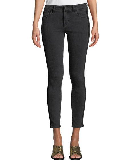 DL1961 Premium Denim Margaux Side-Stripe Instasculpt Skinny Jeans