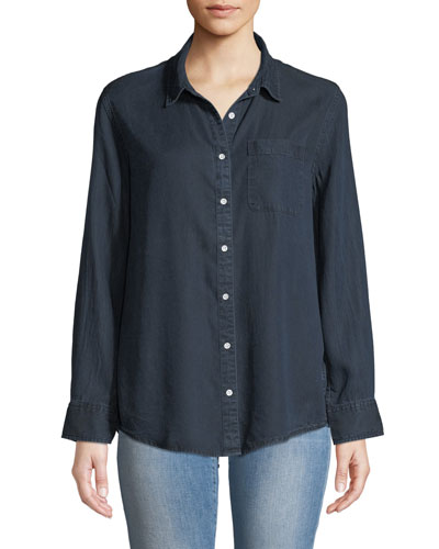Nassau & Manhattan Lace-Up Button-Front Shirt