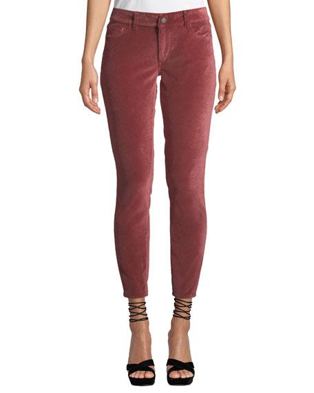 DL1961 Premium Denim Margaux Mid-Rise Instasculpt Velvet Pants