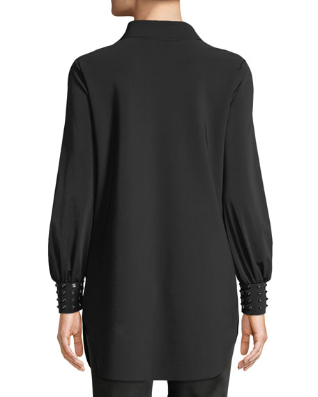 Maurizia Studded Long-Sleeve Tunic