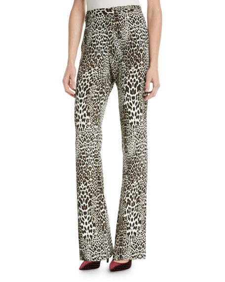 Badgley Mischka Collection Boot Cut Leopard-Print Pants