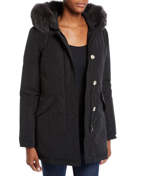 Woolrich Luxury Arctic Hooded Parka Coat w/ Fur