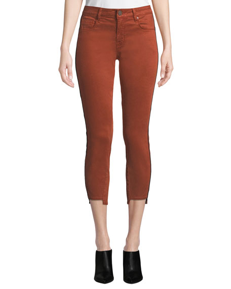 Parker Smith Twisted-Seam Skinny Cropped Pants w/ Step-Hem