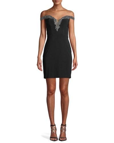 Sweetheart Jersey Dress w/ Corset