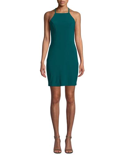 Strappy Jersey Dress w/ Lace-Up Back