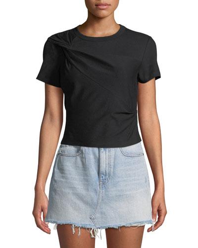 Twisted Jersey Short-Sleeve Slim Tee