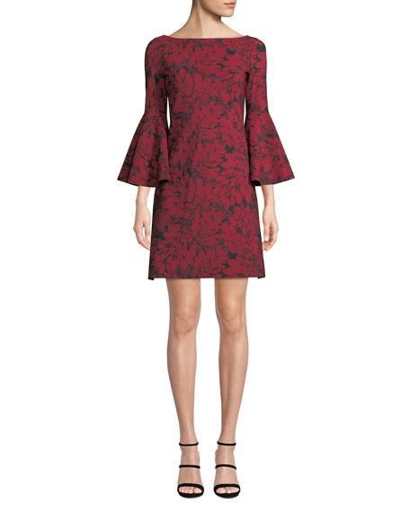 Chiara Boni La Petite Robe Natalia Bell-Sleeve Floral-Print