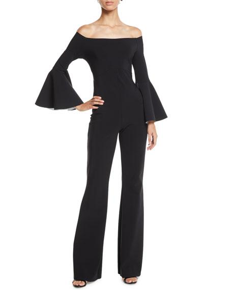 Chiara Boni La Petite Robe Nancy Off-the-Shoulder Wide-Leg