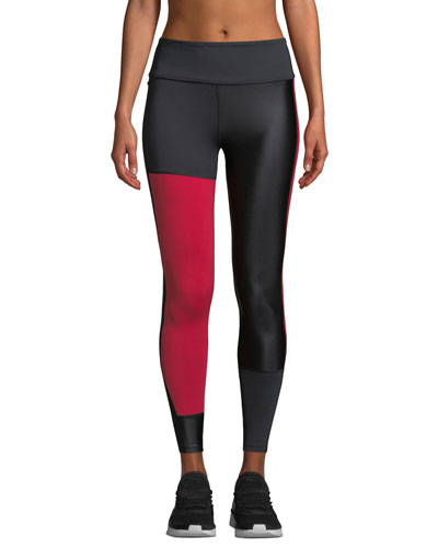 Patchwork Colorblock Performance Tights