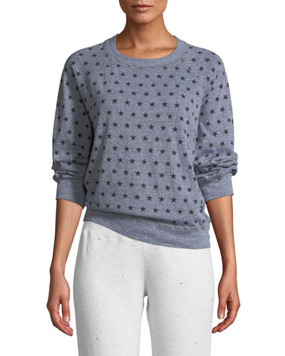 Heathered Star-Print Vintage Raglan Sweater