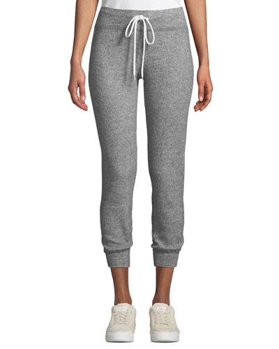 Thermal Cuffed Drawstring Sweatpants