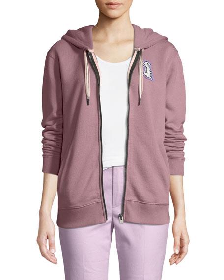 Coach x Selena Gomez Bunny Zip-Front Hooded Sweatshirt