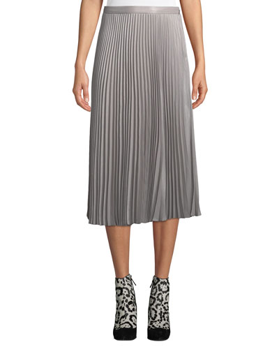 Annina Accordion-Pleated Midi Skirt