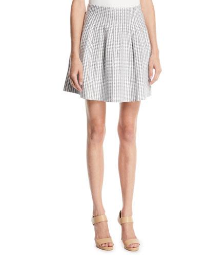 Himanah Geo-Print Pleated Short Skirt