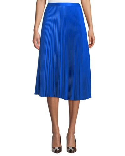 Annina Accordion-Pleated Midi Skirt
