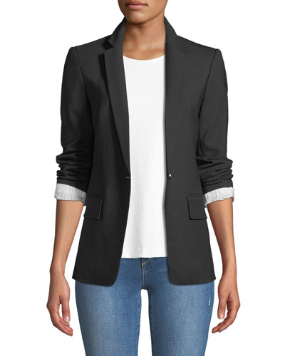 Borrem Single-Button Wool-Blend Blazer