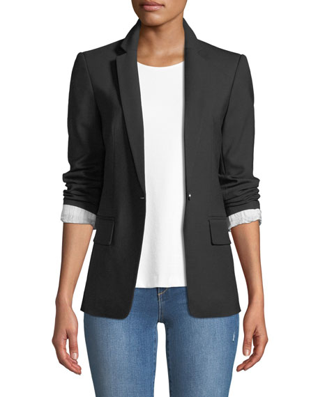 Club Monaco Borrem Single-Button Wool-Blend Blazer