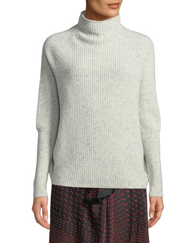 Emma Funnel-Neck Cashmere Sweater