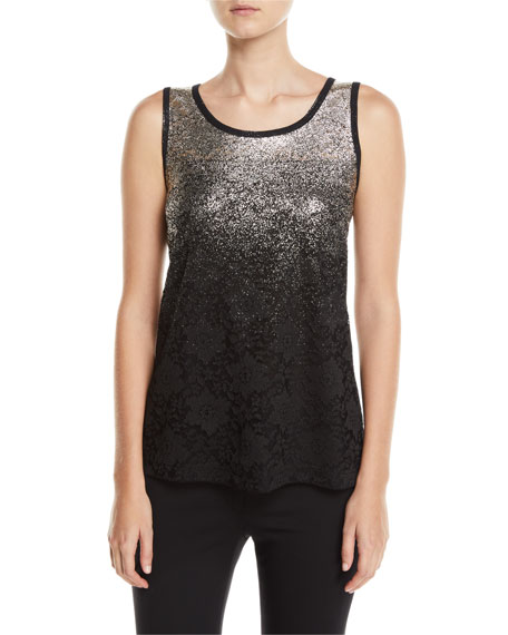 Berek SPECKLE-BORDER EASY TANK TOP WITH LACE