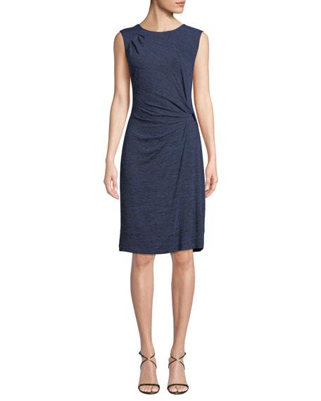 Every Occasion Melange Knit Twist Dress, Plus Size, Mineral