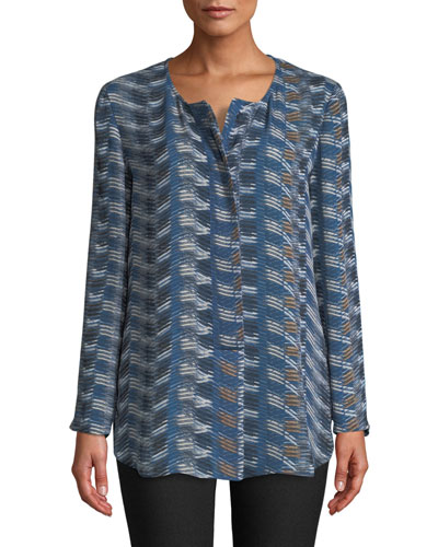 Easy Street Streak-Print Top, Plus Size