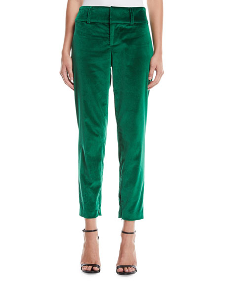 Stacey Slim Velvet Ankle Pants