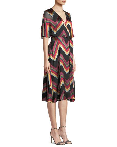 Lexa Chevron Stripe Midi Dress