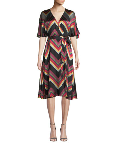 Lexa Chevron Stripe Midi Dress