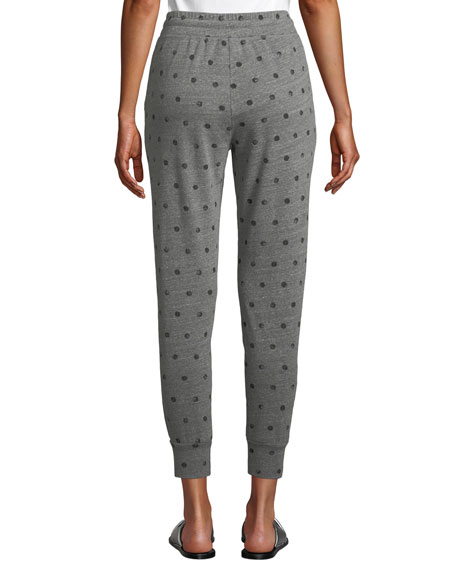 Dot-Print Drawstring Jogger Sweatpants