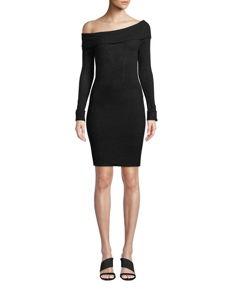 Lovers And Friends Eden Off-Shoulder Ribbed Sweater Dress