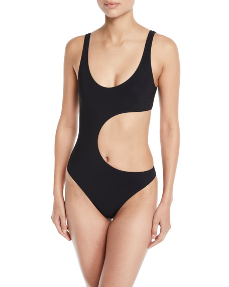 Stella McCartney 90s Scoop-Neck Cutout One-Piece Swimsuit