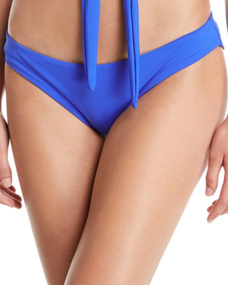 MARA HOFFMAN Zoa Solid Bikini Bottom in Blue