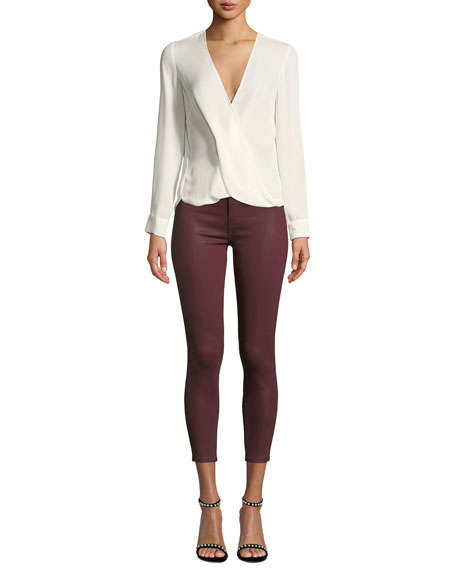 Margot High-Rise Coated Skinny Jeans
