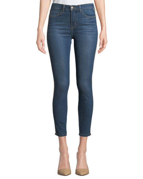 Margot High-Rise Ankle Skinny Jeans, Neptune